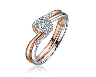 幸福缠绕钻石戒指